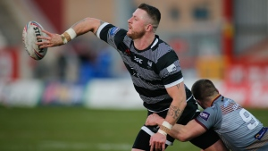 Toronto Wolfpack's Adam Sidlow battles against the Batley Bulldogs during the Betfred Championship Round 7 fixture in Hull, East Yorkshire, U.K. on Sunday, March 17, 2019. THE CANADIAN PRESS/HO, Stephen Gaunt, Toronto Wolfpack *MANDATORY CREDIT*