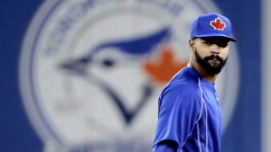 Toronto Blue Jays' Dalton Pompey watches during batting practice before Game 5 of baseball's American League Championship Series against the Cleveland Indians in Toronto on October 19, 2016. Pompey has been diagnosed with a concussion, the team said Friday. THE CANADIAN PRESS/AP, Charlie Riedel