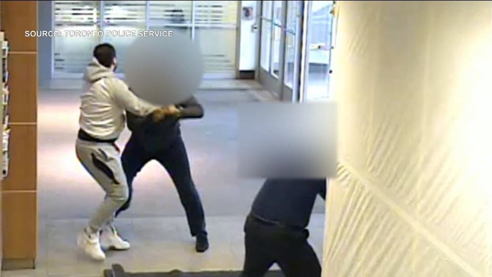 Police are investigating after a man was attacked with bear spray during a robbery at Fairview Mall.
