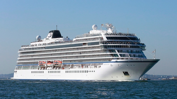 In this Oct. 4, 2017, file photo, Viking Sky, the third 930-guest ocean ship from Viking, sails. (Mark Von Holden/AP Images for Viking Cruises, File)