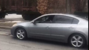 Police have released an image of a Nissan Altima wanted in connection with a suspicious incident involving a 13-year-old girl in Rosedale. (Toronto Police Service handout)
