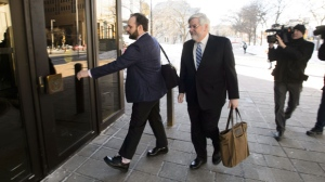 Joshua Boyle and his father Patrick Boyle arrive to court in Ottawa on Monday, March 25, 2019. THE CANADIAN PRESS/Sean Kilpatrick