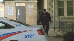 Police investigate a shooting in the area of Sherbourne and Dundas streets Tuesday March 26, 2019.