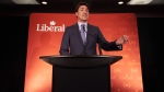 Prime Minister Justin Trudeau delivers opening remarks during a Liberal donor appreciation event at Inn at the Forks in Winnipeg, Monday, March 25, 2019. THE CANADIAN PRESS / David Lipnowski
