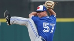 Toronto Blue Jays' Trent Thornton pitches against the Detroit Tigers in the fifth inning of a spring baseball exhibition game, Tuesday, March 5, 2019, in Lakeland, Fla. (AP Photo/John Raoux)