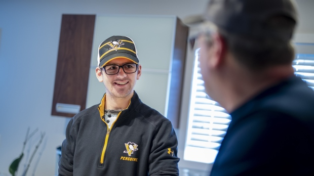 a70eafbb162 Humboldt Broncos bus crash survivor Layne Matechuk speaks with his father  Kevin at their home in Saskatoon