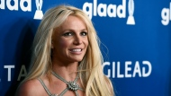 FILE - This April 12, 2018 file photo shows Britney Spears at the 29th annual GLAAD Media Awards in Beverly Hills, Calif. (Photo by Chris Pizzello/Invision/AP, File)