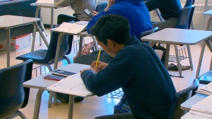 A student is seen in an Ontario classroom in this photo. (File)