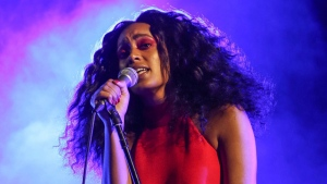In this Aug. 23, 2015 file photo, Solange performs during FYF Fest in Los Angeles. Solange was nominated for seven Soul Train Awards on Tuesday, Oct. 17, 2017. The awards show will air on Nov. 26. (Photo by Rich Fury/Invision/AP, File)