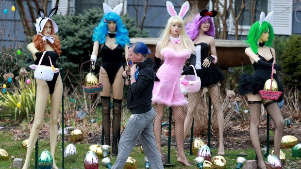 Woman damages neighbor's 'disgusting,' racy Easter display