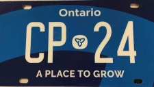 New Ontario licence plate