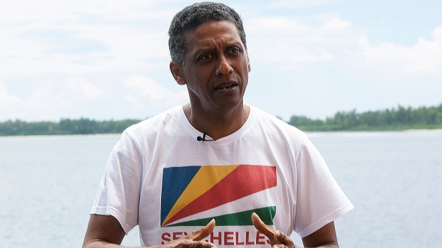 Image result for Seychelles President goes underwater to deliver Speech