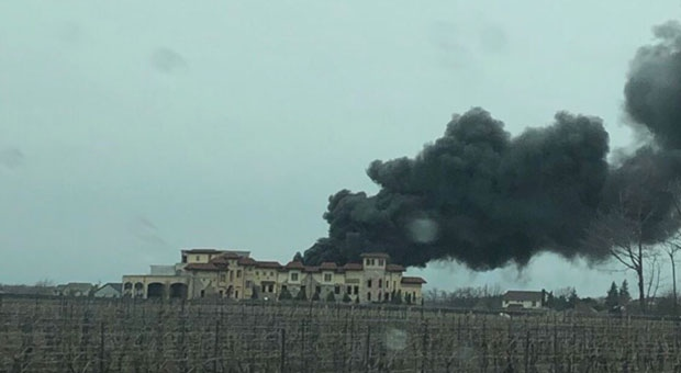 Crews are on the scene of a fire at a winery in Niagara-on-the-Lake. (Andrew Collins/ CP24)