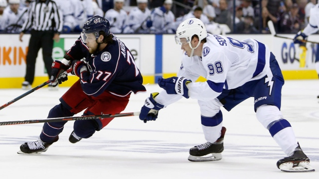 NHL-best Lightning ousted in record speed by Columbus