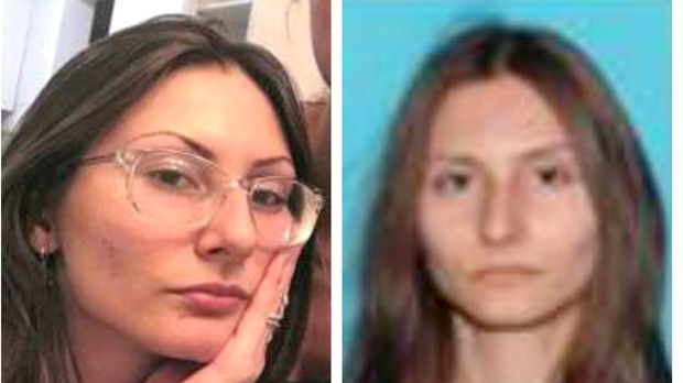 This combination of undated photos released by the Jefferson County, Colo., Sheriff's Office on Tuesday, April 16, 2019 shows Sol Pais. On Tuesday authorities said they are looking pais, suspected of making threats on Columbine High School, just days before the 20th anniversary of a mass shooting that killed 13 people. (Jefferson County Sheriff's Office via AP)
