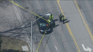 A 97-year-old man suffered critical injuries after being hit by a car in Scarborough.
