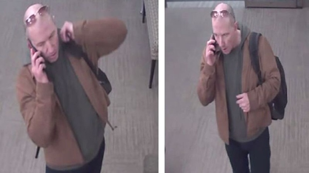 A suspect wanted for several thefts and break and enters in the Yorkville area is shown. (TPS)
