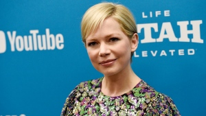 "FILE - In this Jan. 24, 2019, file photo, Michelle Williams, a cast member in ""After the Wedding,"" poses at the premiere of the film on the opening night of the 2019 Sundance Film Festival in Park City, Utah. Michelle Williams and Phil Elverum have separated after less than of marriage. A person close to the couple who wasn't authorized to comment on the matter confirmed the split Friday, April 19, 2019. It was first reported by People magazine. The 38-year-old Oscar-nominated actress and the 40-year-old musician were wed last July in upstate New York. (Photo by Chris Pizzello/Invision/AP, File)"