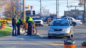 A cyclist suffered serious injuries after being struck by a vehicle in Glen Park.