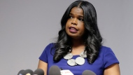 In this Feb. 22, 2019, file photo, Cook County State's Attorney Kim Foxx speaks at a news conference, in Chicago. (AP Photo/Kiichiro Sato, File)