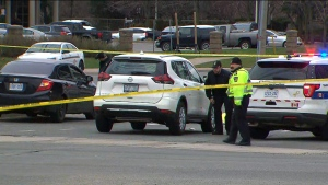 Police investigate after a pedestrian was fatally struck by a vehicle at Hurontario Street and Eglinton Avenue in Mississauga Wednesday April 24, 2019.
