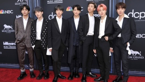 "BTS's rep told The Associated Press that the seven-member group will take a ""well-deserved vacation."" (File Photo by Richard Shotwell/Invision/AP)"