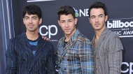 FILE - This May 1, 2019 file photo shows Joe Jonas, from left, Nick Jonas and Kevin Jonas, of the Jonas Brothers, at the Billboard Music Awards in Las Vegas. (Photo by Richard Shotwell/Invision/AP, File)
