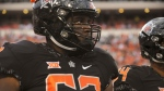 Oklahoma State offensive lineman Shane Richards walks the field prior to an NCAA college football game in Stillwater, Okla., Saturday, Sept. 8, 2018. The Toronto Argonauts are expected to take Richards first overall in the CFL Canadian college draft Thursday night. THE CANADIAN PRESS/AP/Brody Schmidt