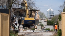 Sherman home demolished