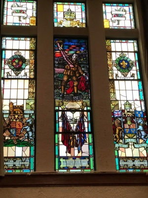 York Memorial Collegiate Institute windows