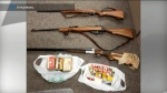 Some of the firearms collected during a three-week gun buyback program are shown.