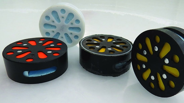 Audible hockey puck