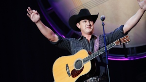 This Aug. 22, 2018 file photo shows Jon Pardi performing at the 12th Annual ACM Honors in Nashville, Tenn. (Photo by Al Wagner/Invision/AP, File)