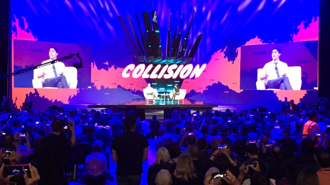 PM Trudeau speaks at Collision 2019 in an undated file image.