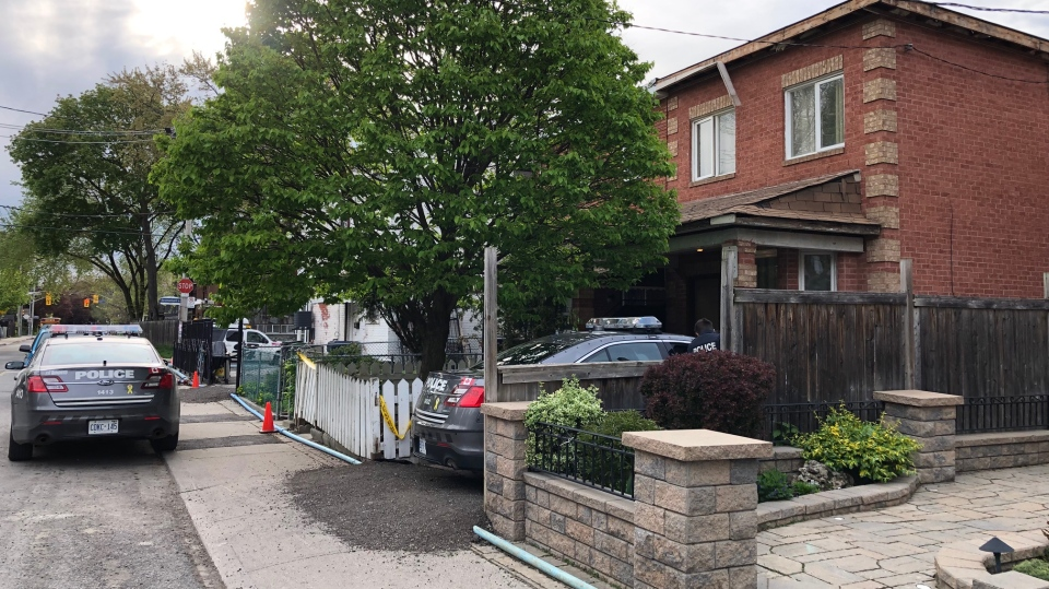Police are investigating after a man was found dead at a home in Toronto's Dovercourt Park neighbourhood. (Peter Muscat/ CTV News Toronto)