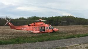 Six people were taken to hospital following a serious crash in Innisfil. (Steve Mansbridge / CTV News Barrie)