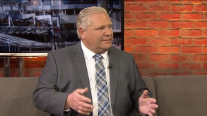 Premier Doug Ford speaks in the CP24 newsroom on May 22, 2019. (CP24)