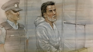 Herculano Pimentel is seen appearing in court on May 22, 2019 in this sketch. (John Mantha)