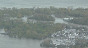 Parts of the Toronto Islands faced increased flooding on Thursday night.