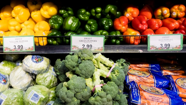 Produce in a Toronto grocery store