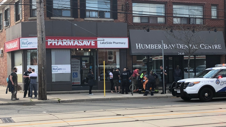 A teen suffered serious injuries after a stabbing in Mimico on Friday evening. (Gurdeep Ahluwalia/ CP24)