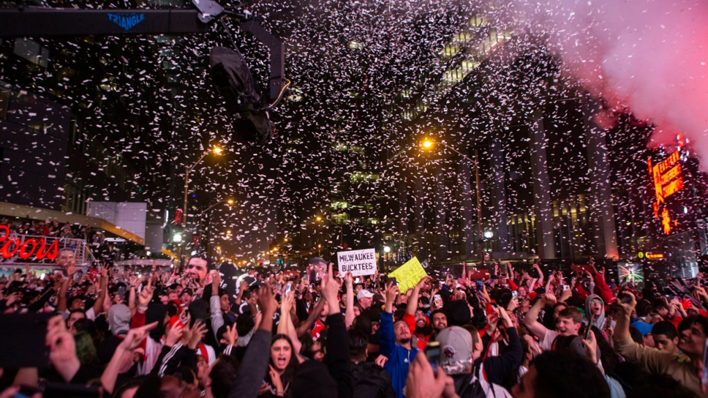 Police say it's 'impressive' no arrests were made amidst Raptors celebrations