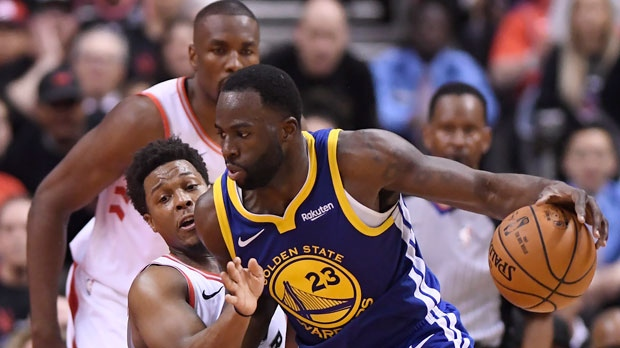 82260b04f5b Golden State Warriors forward Draymond Green (23) controls the ball as  Toronto Raptors guard Kyle Lowry (7) defends during second half basketball  action in ...