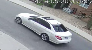 Toronto police have released images of a suspect vehicle wanted in connection with a firearm investigation. (Toronto Police Service handout)