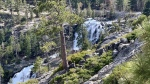 "This Friday, May 31, 2019, photo released by the North Tahoe Fire Protection District shows the Eagle Falls at Emerald Bay State Park in South Lake Tahoe, Calif. Firefighters say a woman died Friday, while taking photos at a Northern California waterfall. Investigators believe she lost her footing and slipped. The district says in a statement that the tragedy ""is a sad reminder to be cautious when taking selfies and other photos in dangerous areas."" (Erin Holland/North Tahoe Fire Protection District via AP)"
