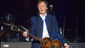 In this Monday, July 10, 2017 file photo, Sir Paul McCartney performs at Amalie Arena in Tampa, Fla. Most hosts would be quite happy to have Paul McCartney come to a shindig. (AP Photo/Scott Audette, file)