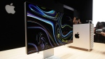 A monitor of the Mac Pro is shown in the display room at the Apple Worldwide Developers Conference in San Jose, Calif., Monday, June 3, 2019. (AP Photo/Jeff Chiu)