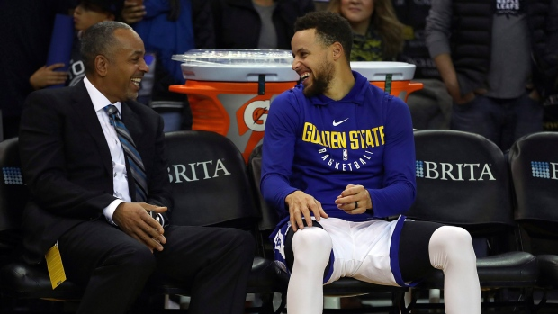 super popular 1fb11 ea748 Dell Curry chuckles at Drake's antics, says son wanted to ...