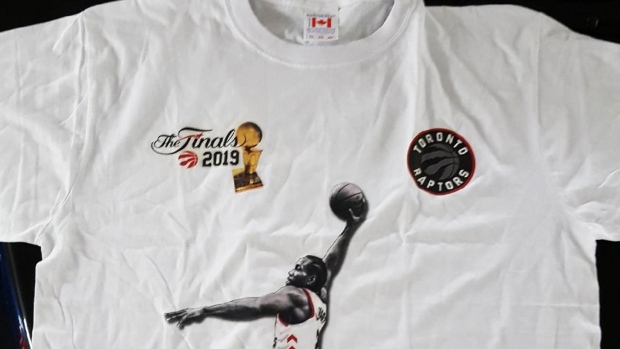 6ef5b3b1d5fa Fake Raptors merch cat-and-mouse game plays out during NBA Finals ...