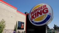 FILE - This April 25, 2019, file photo shows a Burger King in Redwood City, Calif.  (AP Photo/Jeff Chiu, File)